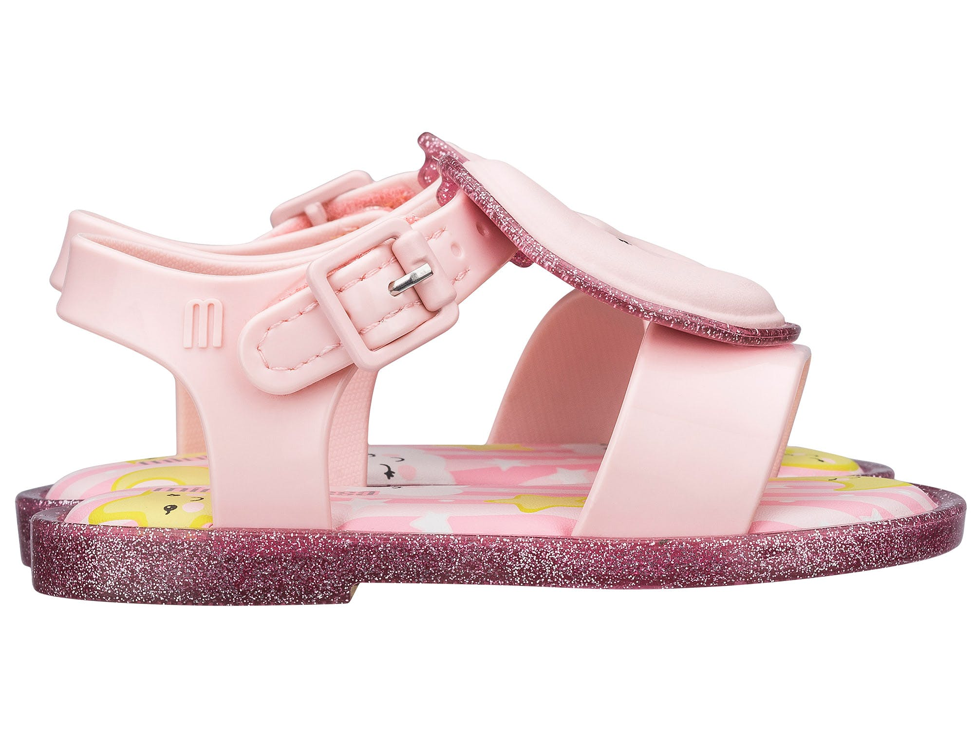 Mini Melissa Mar Sandal Sweet Dreams Rosa Rosa Glitter