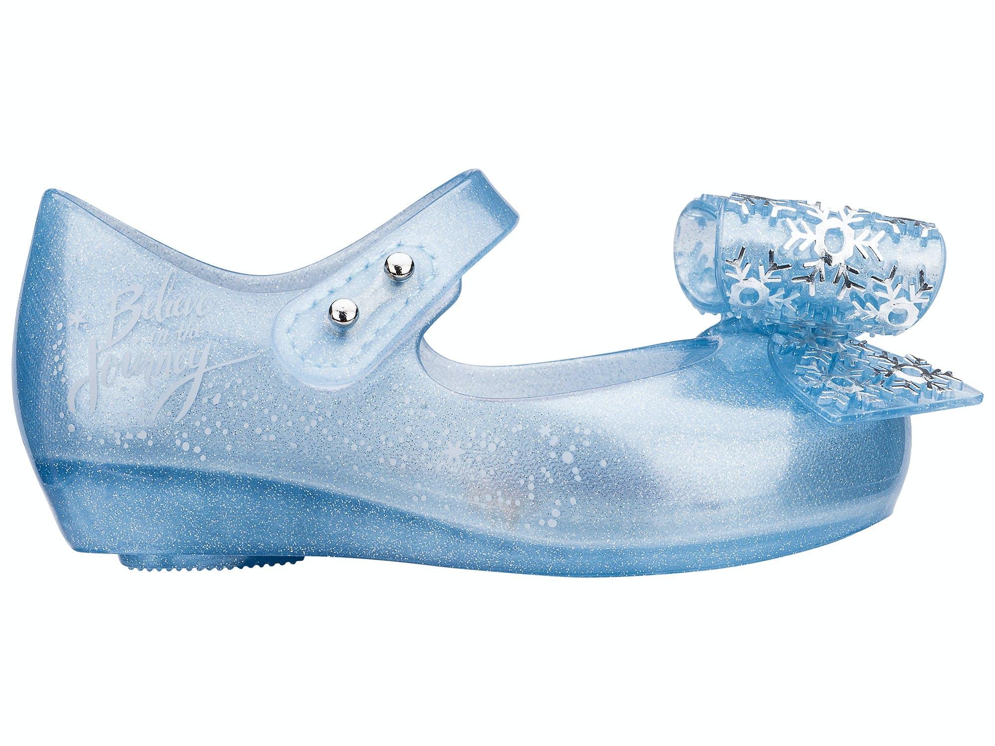Mini Melissa Ultragirl Frozen Perolado Azul Glitter