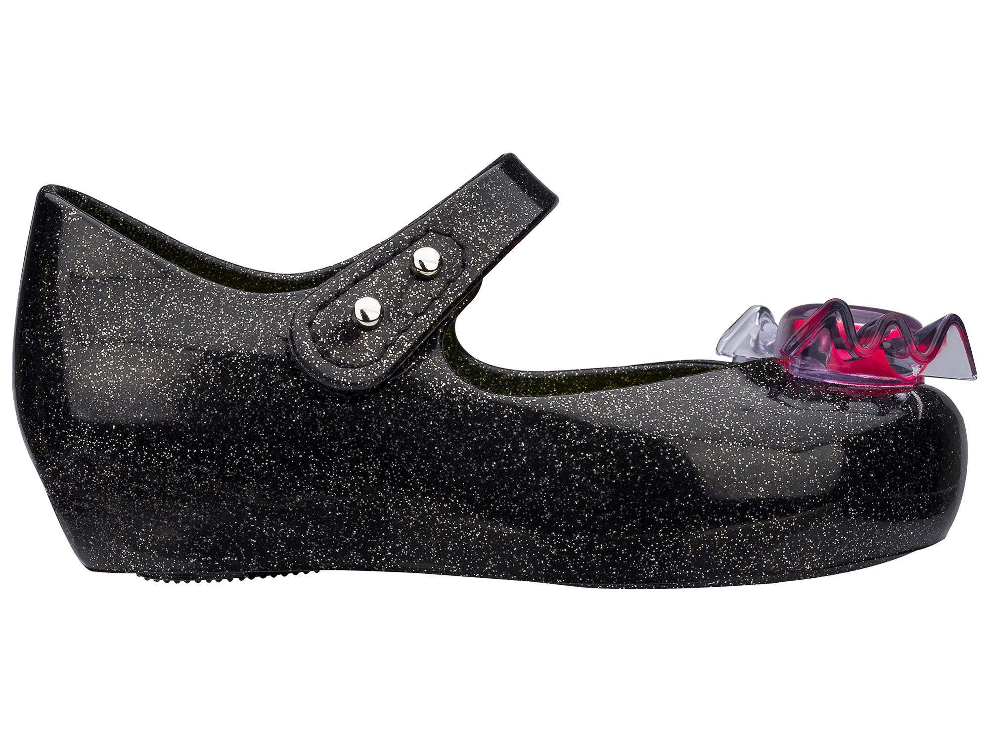 Mini Melissa Ultragirl Trick or Treat Preto Glitter