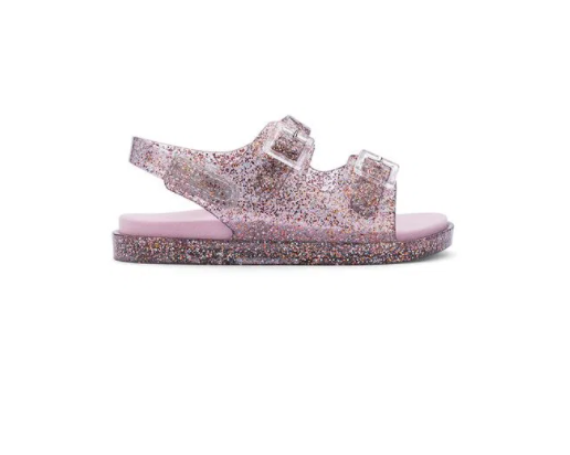 Mini Melissa Wide Sandal Vidro Glitter Misto/Rosa