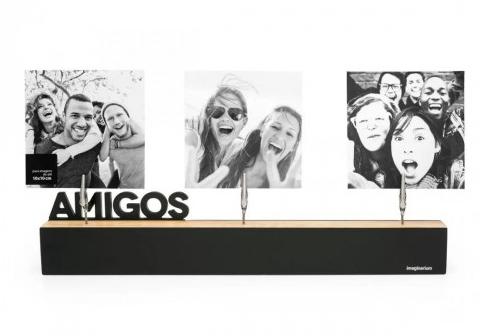 porta retrato com clipes amizade