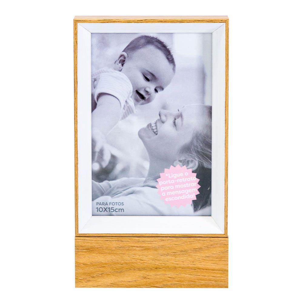 Porta Retrato Madeira Led (1 Foto) - La é Onde o Amor Está Uatt