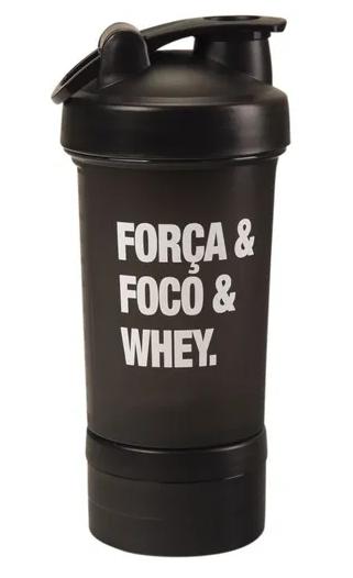 Shakeira 600ml Força&Foco&Whey.