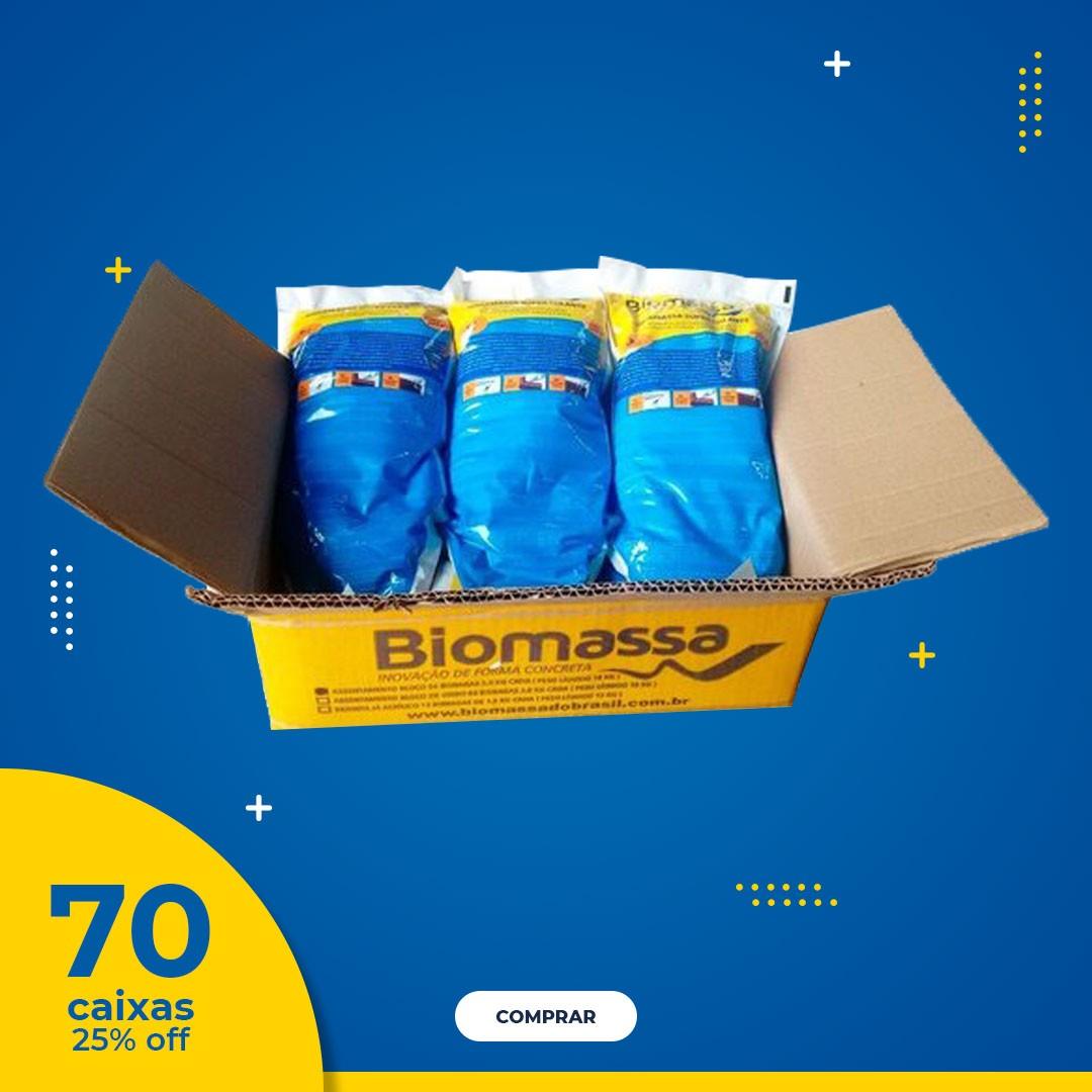Argamassa Polimérica para Assentamento de Blocos e Tijolos , com 25% de DESCONTO - BIOMASSA DO BRASIL  (70 caixas = 420 un.)