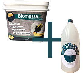 Biomassa Cimento Queimado + Resina Acrílica