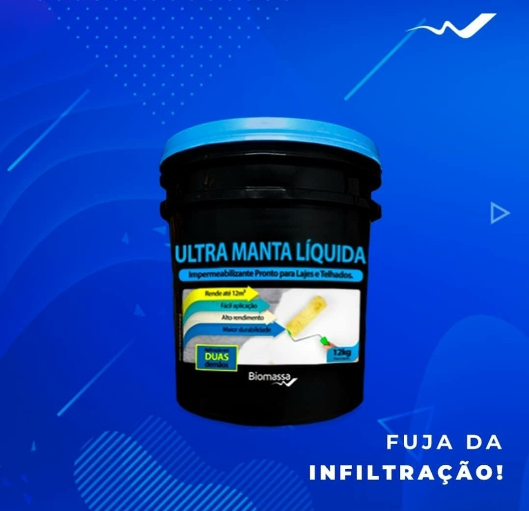Impermeabilizante - Ultra Manta Líquida Branca para Telhados e Lajes (12 kg) - BIOMASSA - 01 un.