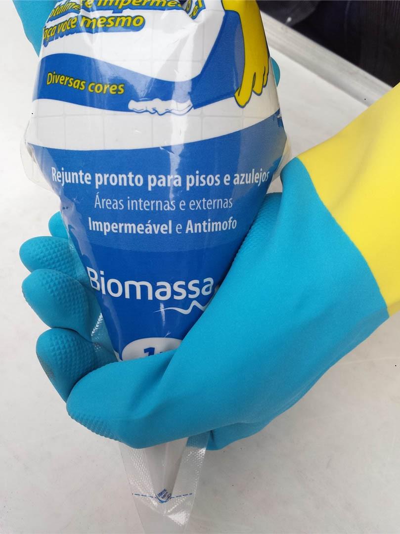 Rejunte Acrílico - Cor Azul Piscina (01 un.) - BIOMASSA