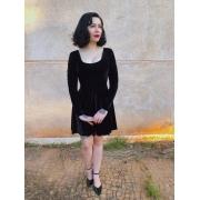 Vestido Gothic Doll Mangas Longas - Pronta Entrega