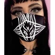 Máscara unissex Baphomet pentagrama
