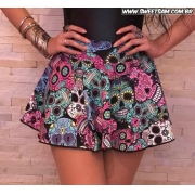 Shorts saia caveira mexicana