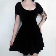 Vestido de Veludo Gothic Doll