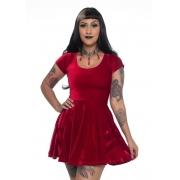 Vestido de Veludo Gothic Doll Red