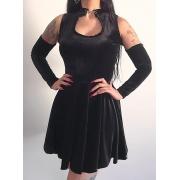 Vestido Gode Mariana 2 em 1 Veludo Black