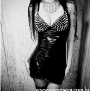 Vestido Lady Dark com Spikes no Busto