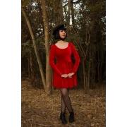 Vestido Vintage Doll Red Velvet - Pronta Entrega