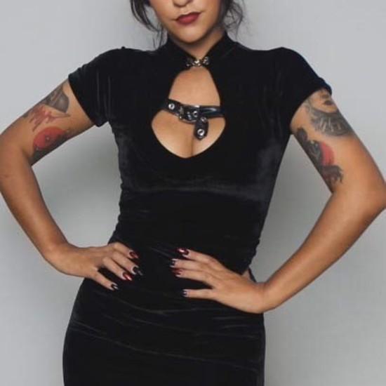 Blusa Lady Dragon com fivela - Pronta Entrega