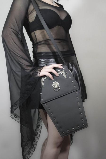 Bolsa Caixão Lady Dark Leather