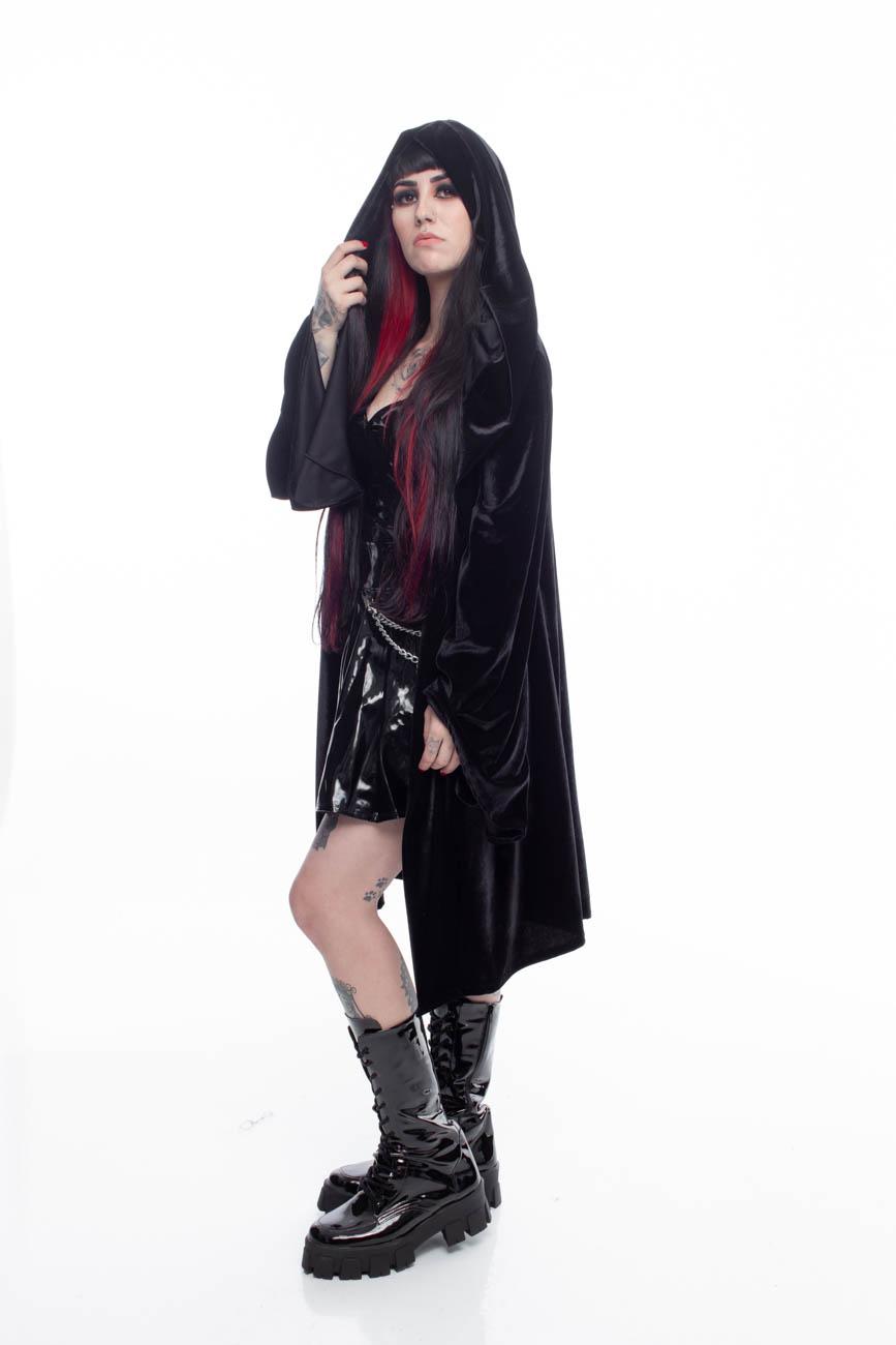 Cardigan Black Velvet - Pronta Entrega