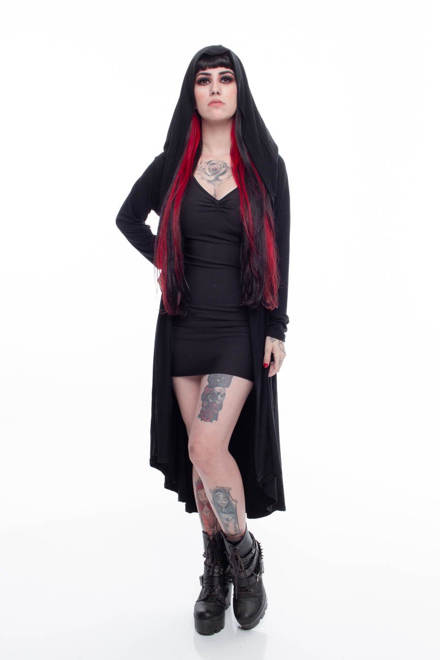 Cardigan Longo Unissex Urban Witch - Pronta Entrega