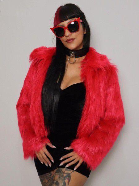 Casaco De Pele Fake Blood Glamour