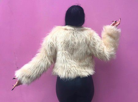 Casaco de pele Fake Ghost Glamour