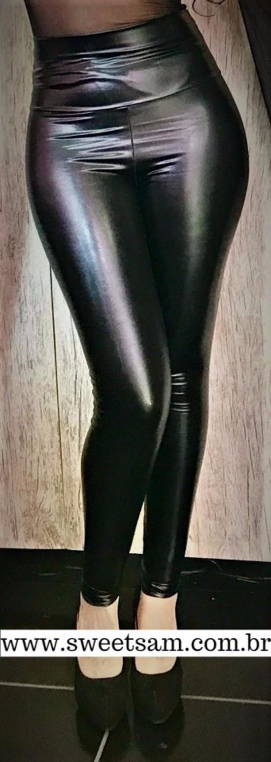 Calça Sexy Shine em vinil com lycra - Pronta Entrega