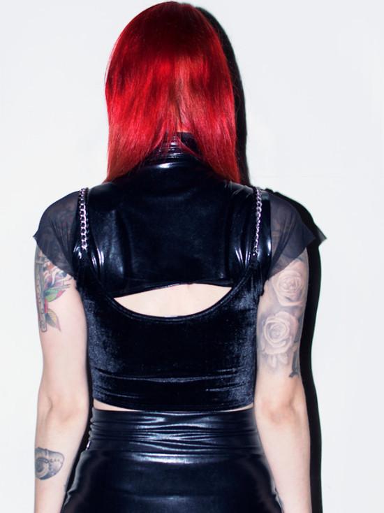 Cropped Lady Darkness - Pronta Entrega