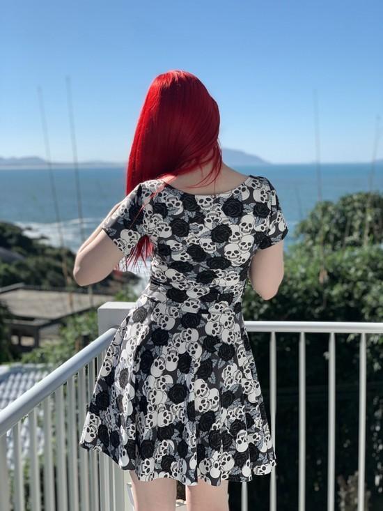 Vestido Black Rose - Pronta Entrega