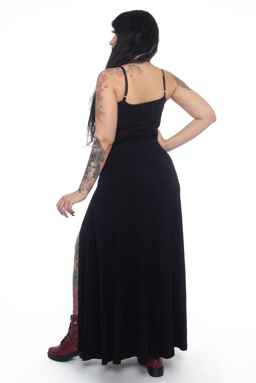 Vestido Longo Supreme Black - Pronta Entrega