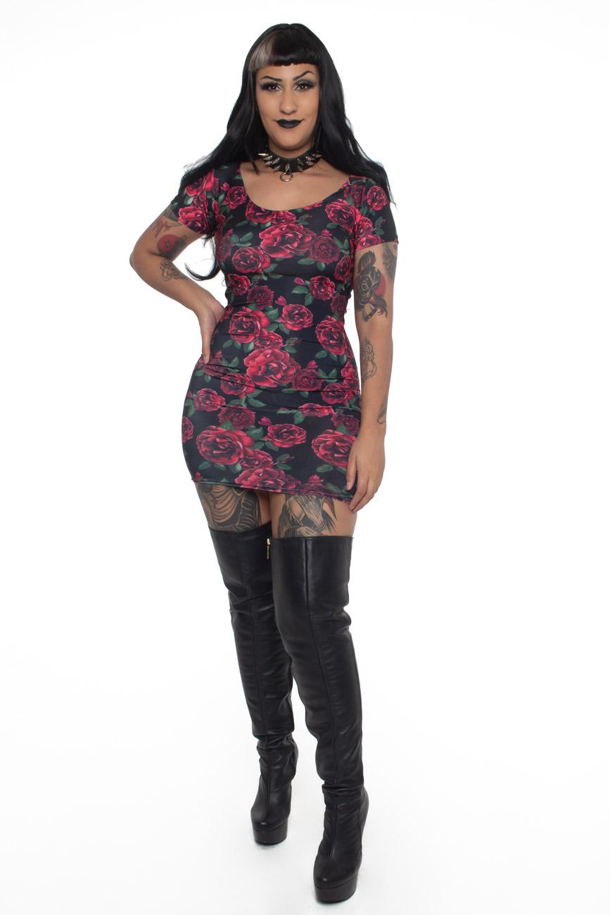 Vestido Mistress Roses - Pronta Entrega