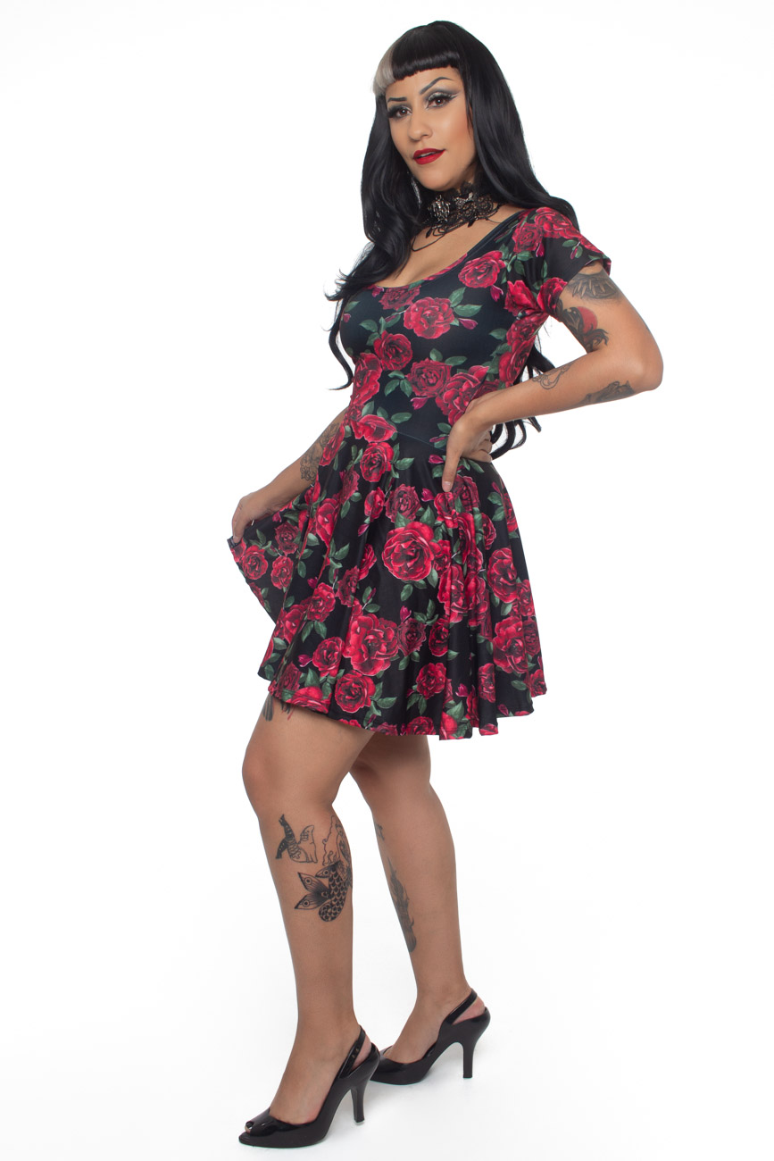Vestido Red Rose - Pronta Entrega