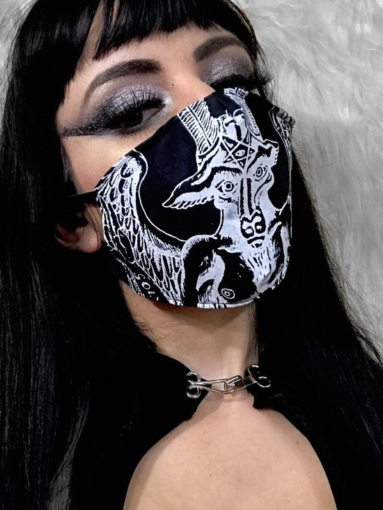 Máscara unissex Baphomet