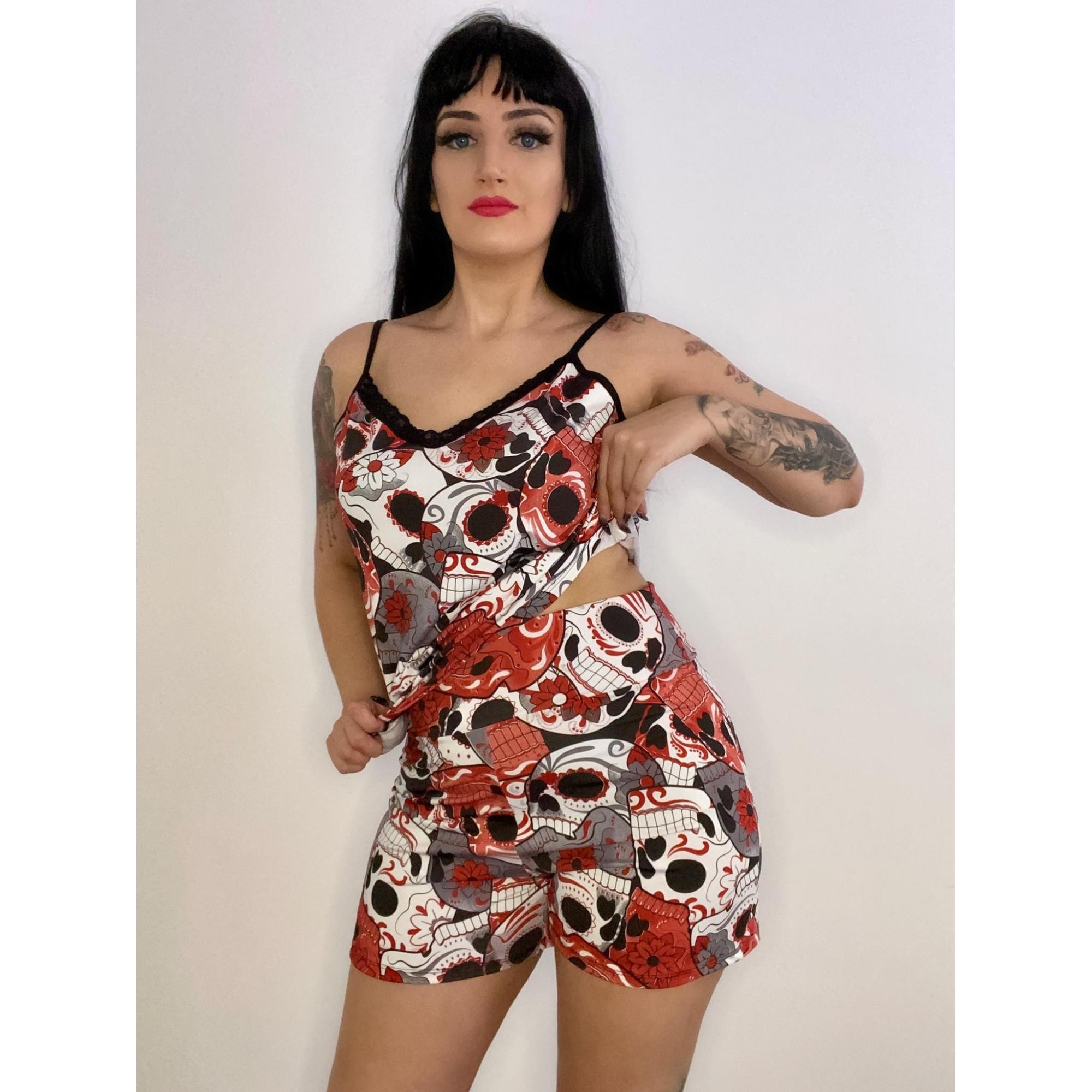 Short Doll Caveira Mexicana Blood