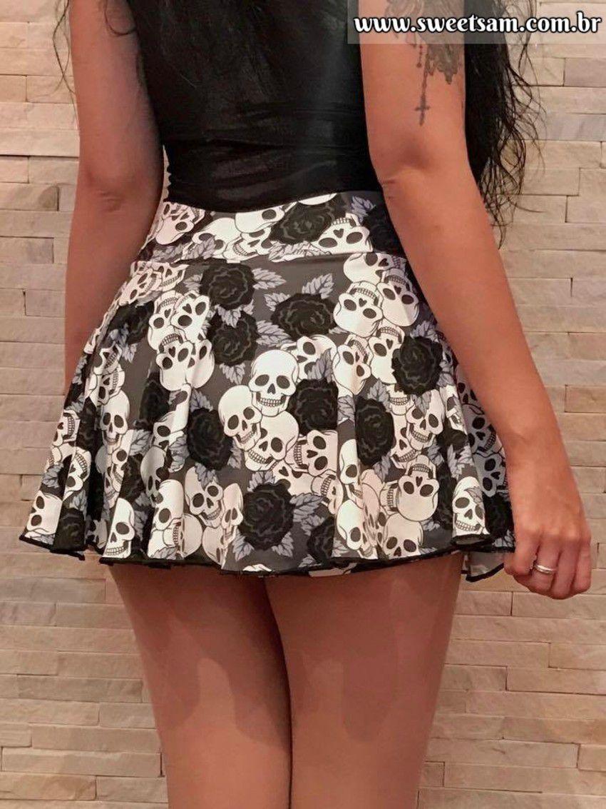 Shorts Saia Black Roses