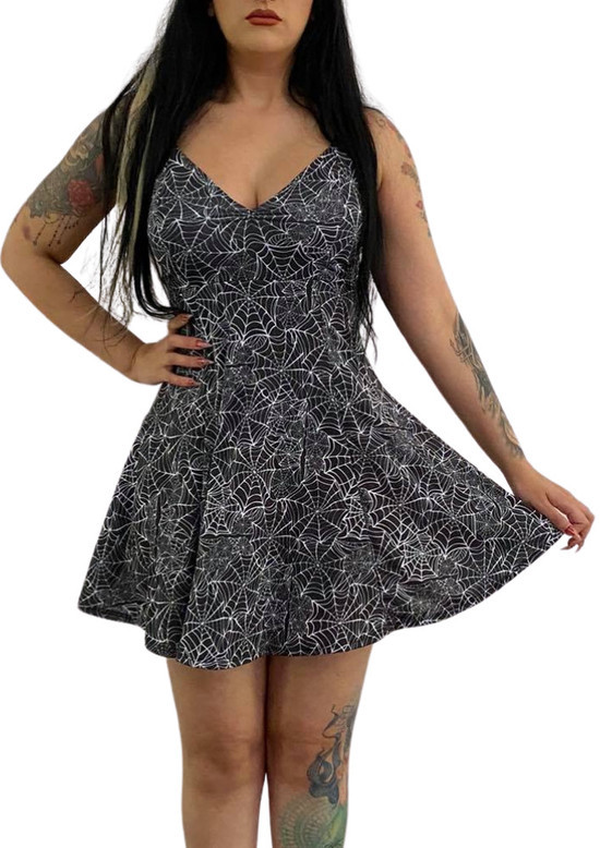 Vestido Basic Angel Viuva Negra - Pronta Entrega