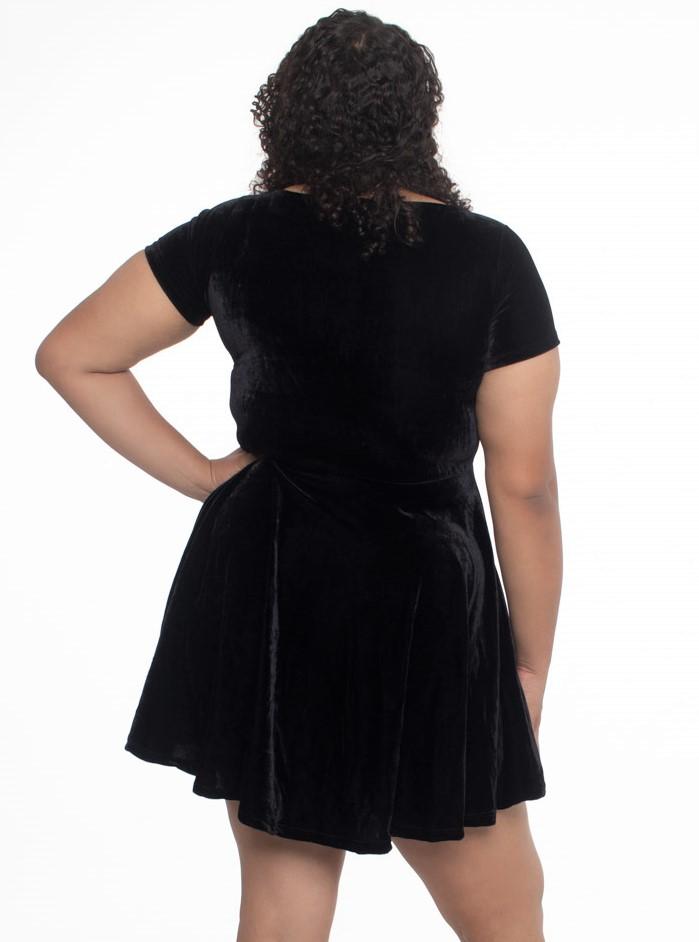 Vestido de Veludo Gothic Doll - Pronta Entrega