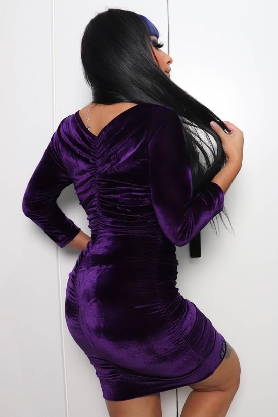 Vestido Drapeado Lady Purple