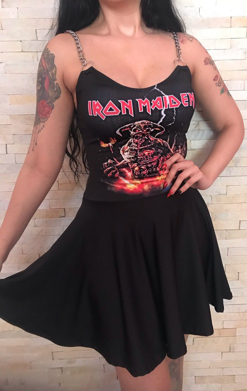 Vestido Estampa Personalizável Iron Maiden