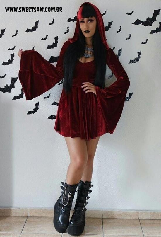 Vestido Gothic Doll Rubi