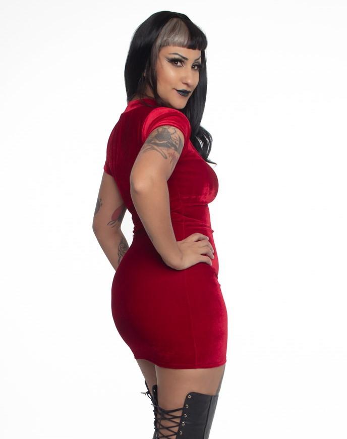 Vestido Justo Lady Dragon Red