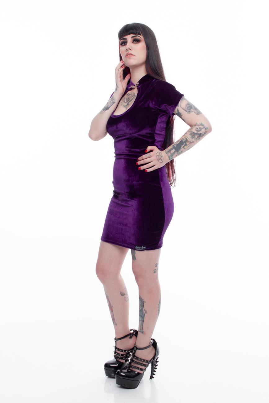 Vestido Justo Lady Dragon Sarcófago - Pronta Entrega