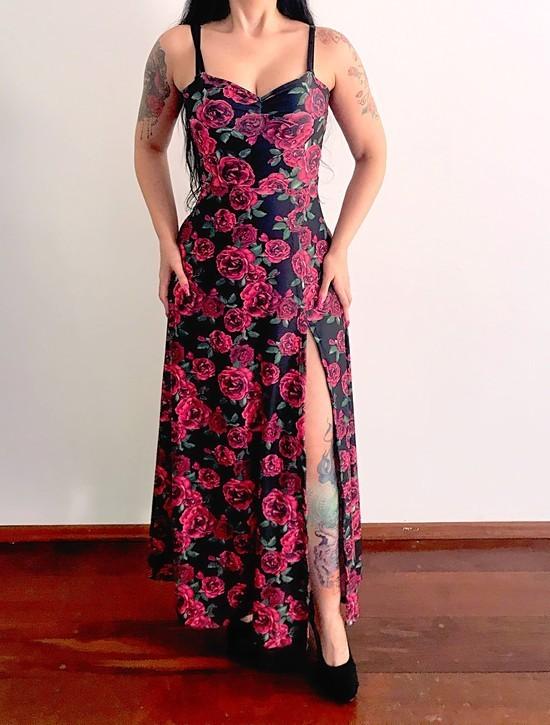 Vestido Longo Supreme Roses