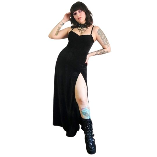 Vestido Longo Supreme Veludo - Pronta  Entrega