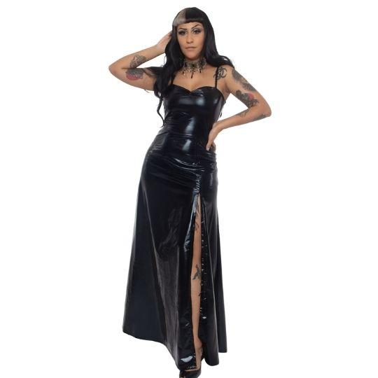 Vestido Longo Supreme Vinil - Pronta Entrega