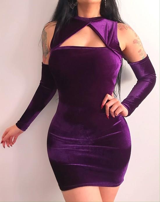 Vestido Mariana 2 em 1 Sarcófago - Pronta Entrega