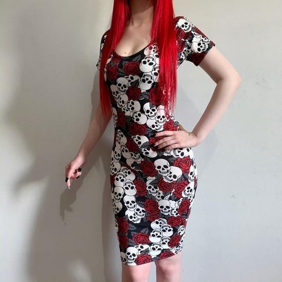 Vestido Red Rose Justo