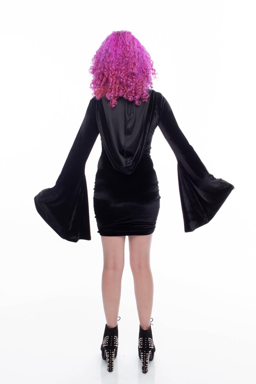 Vestido Spectrum em Veludo com Lycra