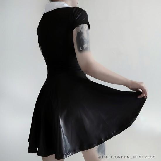 Vestido Vandinha em Lycra com brilho