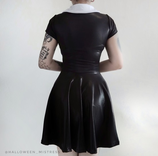 Vestido Vandinha em Lycra com brilho - Pronta Entrega