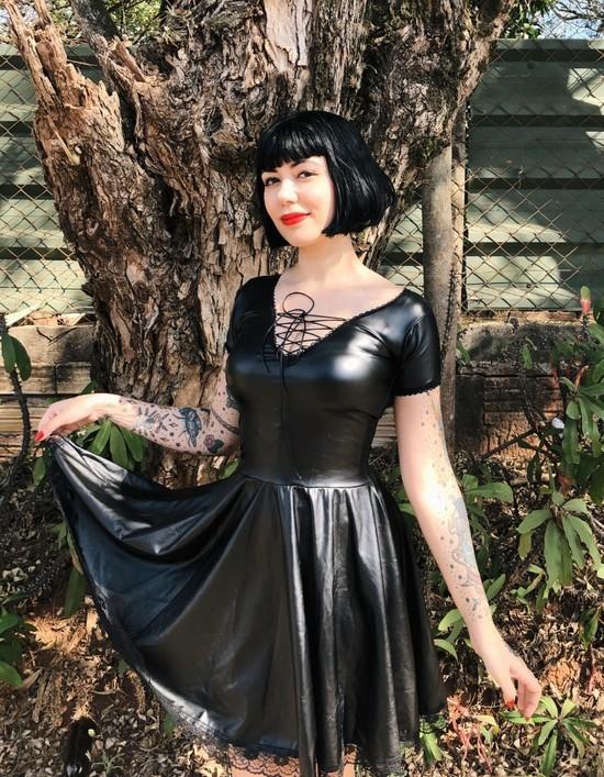 Vestido Vintage Dark Dreams - Pronta Entrega